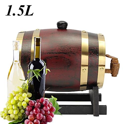 1.5L Oak Timber Wine Barrel Beer Whiskey Rum Port Keg Wooden Keg With Spigot
