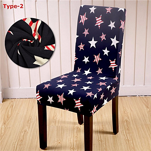 Polyester Stretch Dining Room Wedding Banquet Chair Cover Party Elastic Seat Decor Type 2/Type 5/Type 6