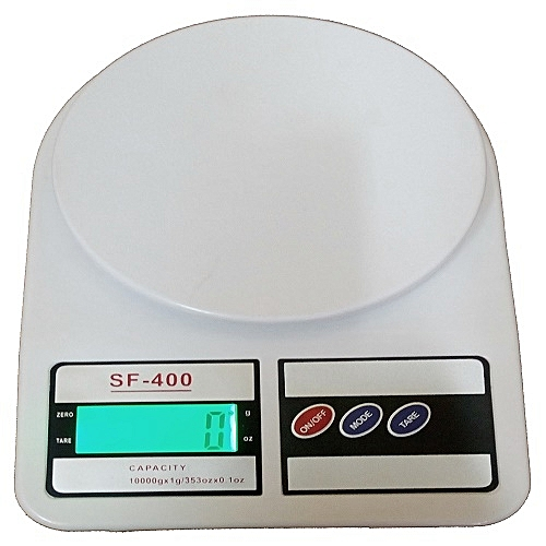Electronic LCD Display Kitchen Scale - White