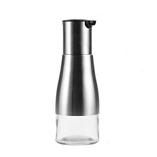 Stainless Steel Glass Seasoning Bottle For Soy Sauce Oil Vinegar (BLACK)