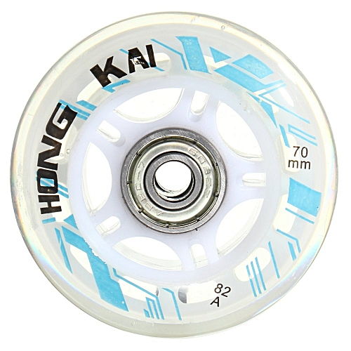 Generic 8 Pcs 70mm 82A Replacement Wheels Rollerblade Skating Inline Skate Shoes White