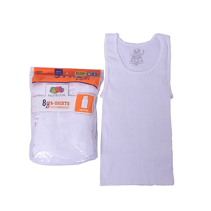 7136d1403 Fruit of the Loom Boys Singlets 8 Bonus Pack - White | Jumia NG