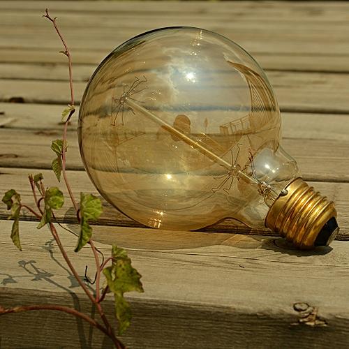 Vetro E27 Edison Light Bulb Incandescent Replacement 40W 220V G95ST New