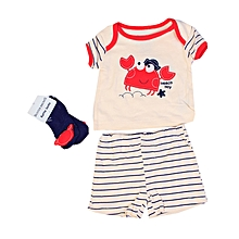 cb6e1bed9 Kiddies 3-pieces Top, Short & Socks Set - Multicolour
