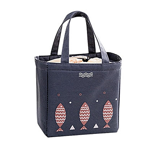 Trendy Lunch Container Lunch Box Storage Bag Picnic Carry Totes Pouch Lunch Bag