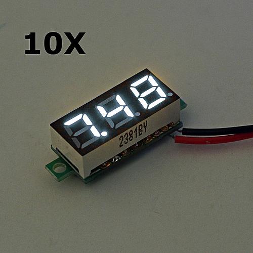 10pcs 0.28 Inch 2.5V-30V Mini Digital Voltmeter Voltage Tester Meter