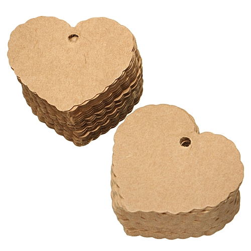 100x Brown Blank Kraft Paper Hang Tags Wedding Party Favor Label Price Gift Card