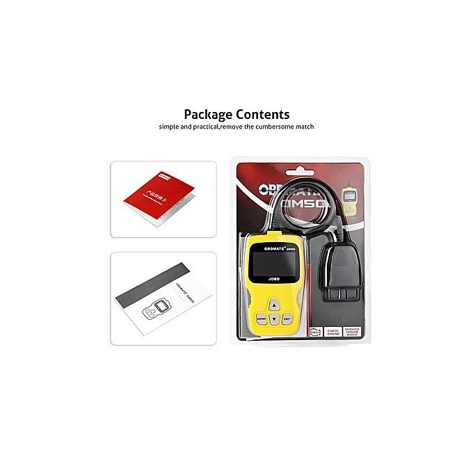 OM500 JOBD OBD2 EOBD Code Reader Auto Honda Toyota Car Fault Scanner  Diagnostic Tool Yellow