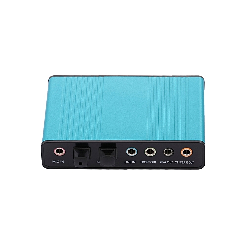 External Sound Card USB 6 Channel 5.1 / 7.1 Surround Adapter Audio USB 2.0 Optical Sound Card Adapter 4 IN 1 For PC Laptop