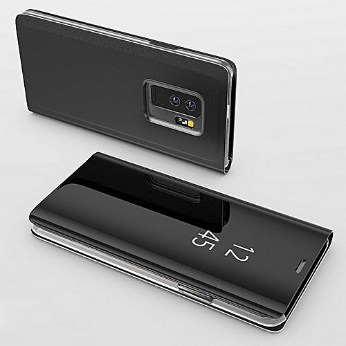 For S9 Plus Case Smart Mirror Flip Case For Samsung Galaxy Plusfor S9 Plus Case -Black
