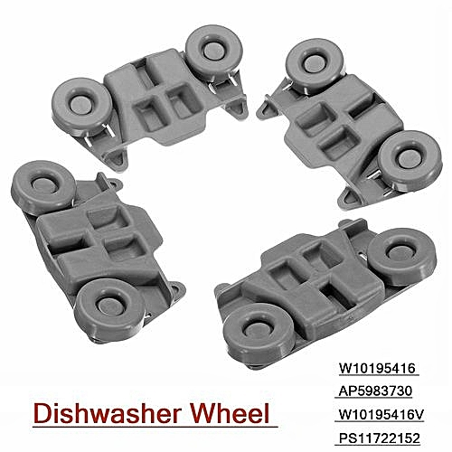 4 PCS W10195416 Dishwasher Wheel Assembly AP5983730, W10195416V, PS11722152