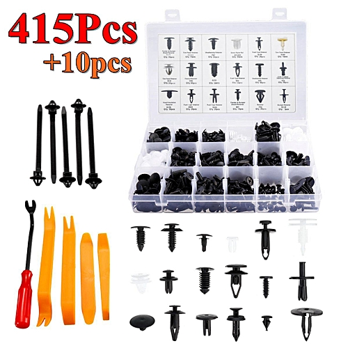 415Pcs Rivets Retainer Clip Trim Panel Bumper Push Fasteners Tools Kit For Ford