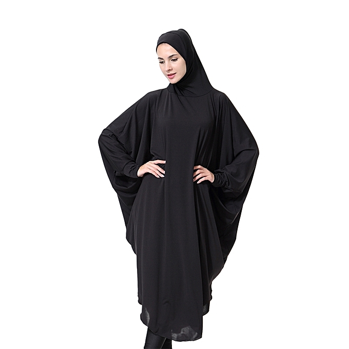 Muslim Hijabs Women Abaya Arabic Long Hijab Gown Solid Lady Ic Vintage Shing High Elastic