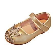 646e3be9b49b Dadaliak Store Toddler Kids Girls Baby Beading Princess Crown Sandals  Single Shoes