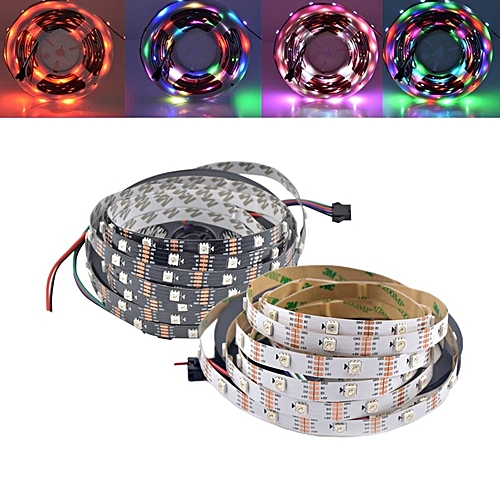 1M 5M WS2813 RGB Dream Color Non-waterproof LED Pixel Strip Light For Holiday Party Decor DC5V-