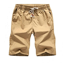 Mens Casual Pants Baggy Shorts Pockets Cargo Short Khaki 68c957bd4f