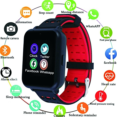 Sport Smart Watch With Heart Rate Monitor Fitness Tracker & Sleep Monitor Waterproof Sport Watch For IOS Android