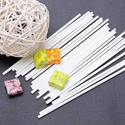 "25pcs 6"" 15cm Paper Lollipop Stick Sucker Candy Chocolate Cake Lolly Pops"