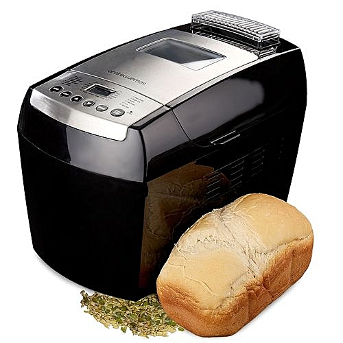 Compact Dual Blade Bread Maker + LCD Display + 13 Pre-Programmed Functions - Black