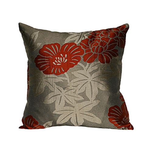 EXQUISITE THROW PILLOW COVER WITH COLORFUL FLORAL DESIGN