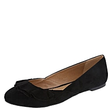 947dd2d90df Women  039 s Suede Office Flats Shoe - Black