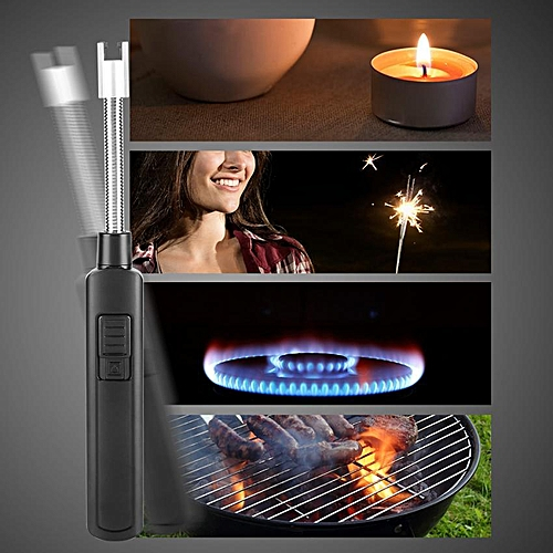 USB Rechargeable Electric Lighter With Flexible Neck For BBQ Candle Stove Kitchen (Gray)