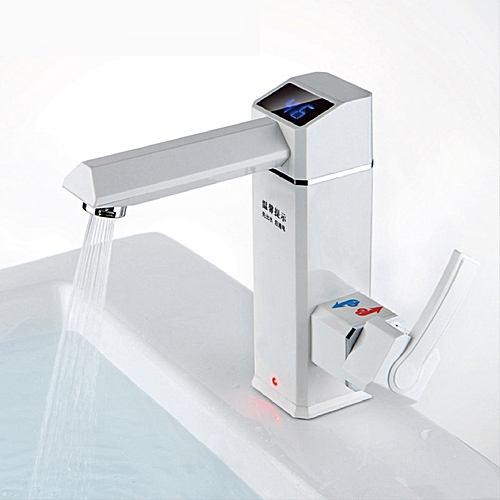 2500W Bathroom Kitchen Instant LED Display Electric Water Faucet Hot Water TapTankless Electric Wat