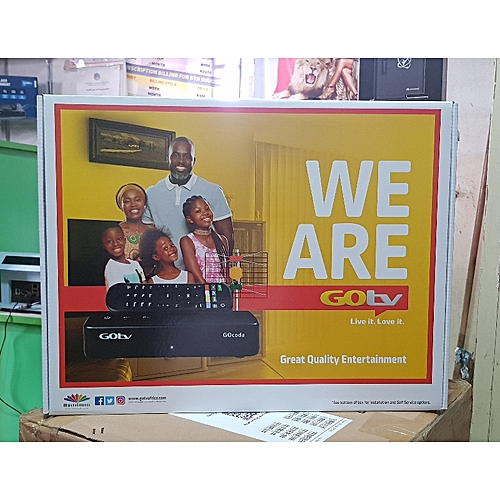 Decoder + Antenna + Remote + Adapter +1 Months GOTV MAX Subscription