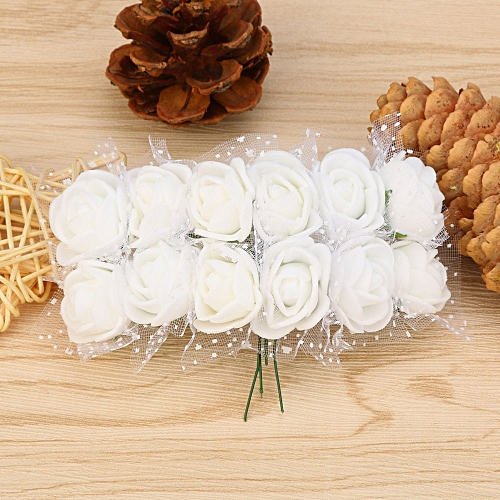 Dtrestocy 12 Pc/ Lot Simulation Mini Artificial Flower Foam Flower Ball DIY Decoration