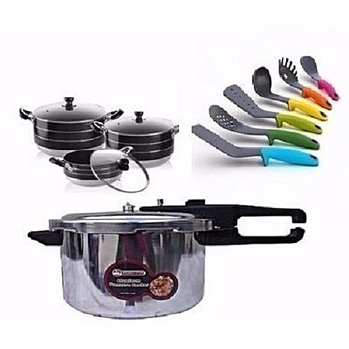Pressure Cooker,Non Stick Pots And Spoon
