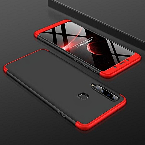 best service 1e6fc 594c2 For Samsung A9 2018 Case 360 Full Protection Hard Slim Back Cover For  Samsung Galaxy A9S A920 SM-A920F Phone Cases Coque (Red&Black)