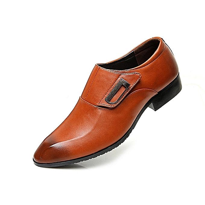 9495b70033dc Men Business High Quality Winter Slip On Shoes Men s Super Gentle Wedding  Leather Formal Shoes-brown