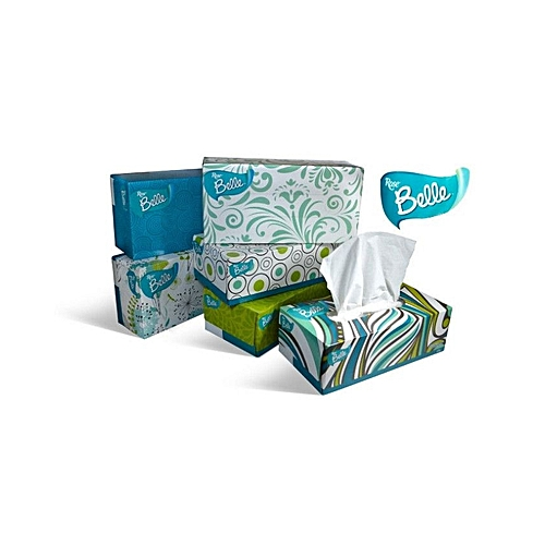 Rosebelle Multipurpose Tissue Box/5 Boxes + Free Gift (security Wallet)