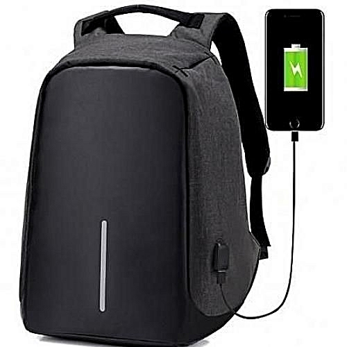Anti Theft Waterproof & Laptop Bag With USB Charging Port