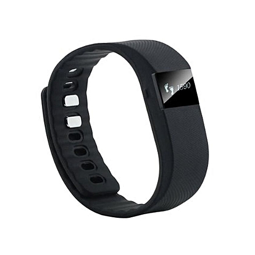 Smart Bracelet Watch With Bluetooth 4 0 IP67, SMS, Sleep Monitor - Black