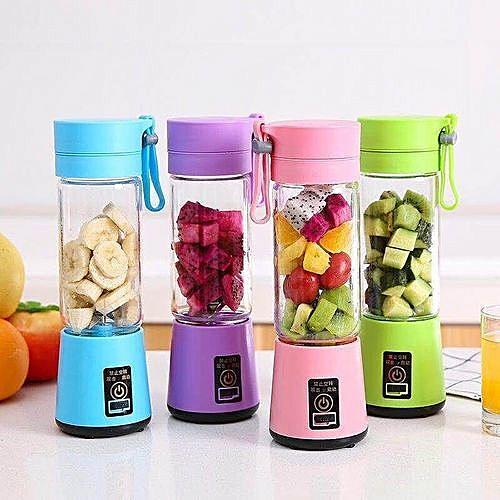 Double Battery Rechargable Fruit Blender Juicer (2 Blades)