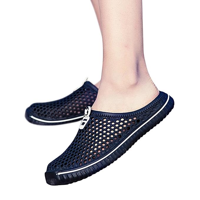 4cf2c81461e2f Tectores Men Shoes Unisex Hollow Out Casual Couple Beach Sandal Flip Flops  Shoes