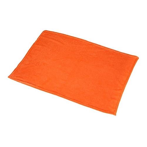 70X100cm Solid Color Blanket Coral Fleece Comfortable Home Bed Sofa Blanket Orange
