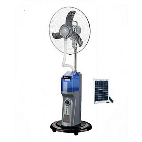 """16"""" Mist Rechargable Fan ADK6116 With USB And Solar Panel"""