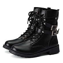 4b28d42eeec79 Womens Punk Motorcycle Biker Military Combat Flat Ankle Boots Classic Shoes