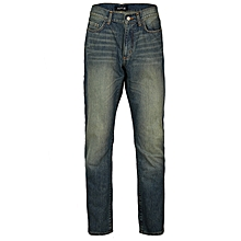 542955ca6c9 Men  039 s Faded Detail Straight Jeans Non Pin - Blue