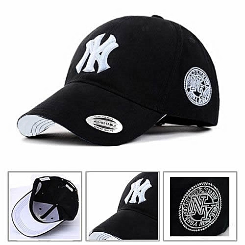 Fashion NY Designer Baseball Face Cap Hat- Black  27d855e9480