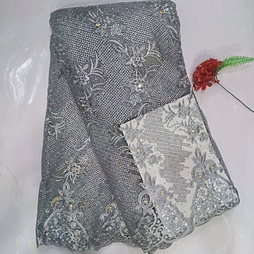 Tulle Lace - Silver- 5 Yards