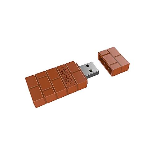 8Bitdo USB Wireless Bluetooth Adapter Gamepad Receiver For Windows/Switch Brown