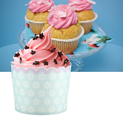 50PCS Colorful Paper Cake Cup Set For Birthday Wedding Party Festival