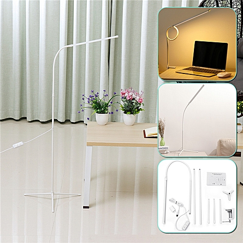 1000LM USB Adjustable LED Floor Light Standing Reading Office Dimmable Desk Lamp