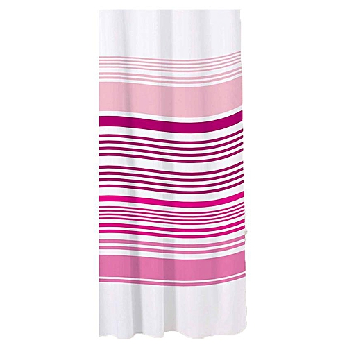 Stripe Shower Curtain - Raspberry