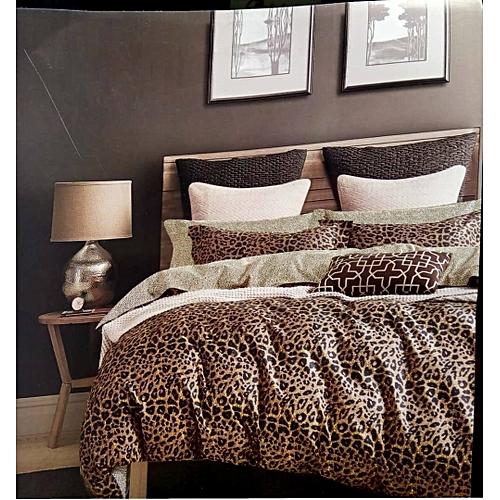 Animal Skin Duvet + Bedsheet + Four Pillow Cases + Duvet Bag And FREE GIFT