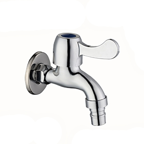 Washing Machine Single Handle Cold Water Faucet Stainless-Steel Wall-mounted Mop Pool Sink Tap
