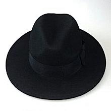 f7a1e20a599 Trendy Men Fedora Hat -Black